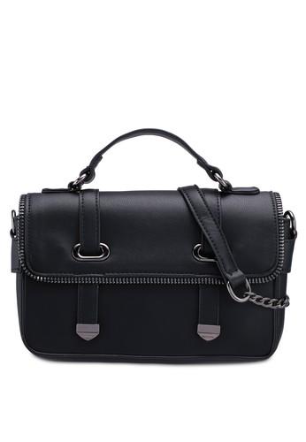 Unisa black Faux Leather Colour Block Top Handle Bag CD894AC5E690AFGS_1