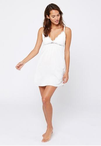 Etam white Success Nightie With Lace Neckline 7A42BAA14E29B1GS_1