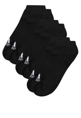 adidas black adidas performance no-show thin socks 3 pairs AD349AC39IIAID_1