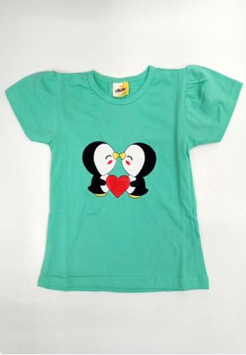 Pingu green Kibi - Kaos Kibi Perempuan Lengan Pendek 80AE8KAD2F93E5GS_1