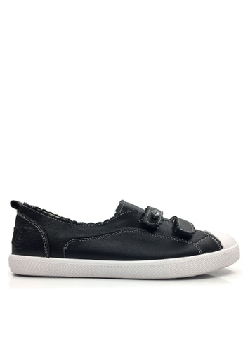 Twenty Eight Shoes black Real Leather Rhinestone Velcro Sneakers VL805 TW446SH2UK2EHK_1
