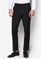 Burton Menswear London 黑色 窄管正裝長褲 BU964AA22IABMY_1