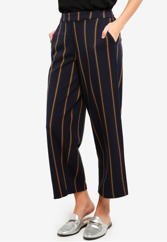 ONLY navy Milla Wide Ankle Pants 47373AAFC038F3GS_1