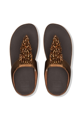 4733eaf2439a Buy Fitflop Fitflop Rumba Toe-Thong Sandals Bronze Online