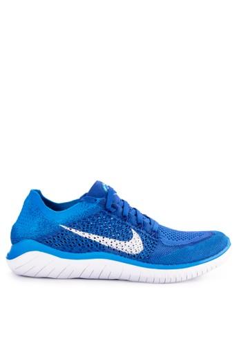 Nike blue Nike Free RN Flyknit 2018 Running Shoes 3204CSH927C3EAGS_1