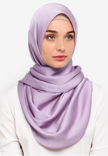 VERCATO purple Premium Luxe Satin Shawl CA3B3AA4574DFAGS_1