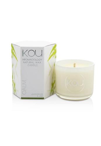 iKOU IKOU - Eco-Luxury Aromacology Natural Wax Candle Glass - Calm (Lemongrass & Lime) (2x2) inch B5E03HLC5098B1GS_1