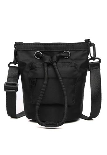 Milliot & Co. black Riva Sling Bag 28866AC11D65F3GS_1