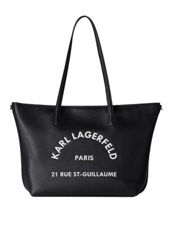KARL LAGERFELD black Rue St Guillaume Tote 923DFACCFE55CEGS_1