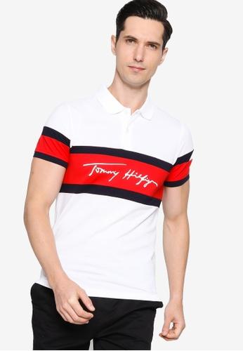 Tommy Hilfiger multi 1985 Signat Colorblock Slim Polo Shirt 7154CAA95DE0CEGS_1