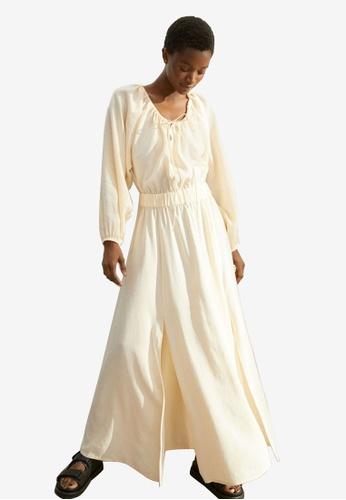 H&M yellow Long Lyocell-Blend Dress 9FFB2AA1D799E9GS_1