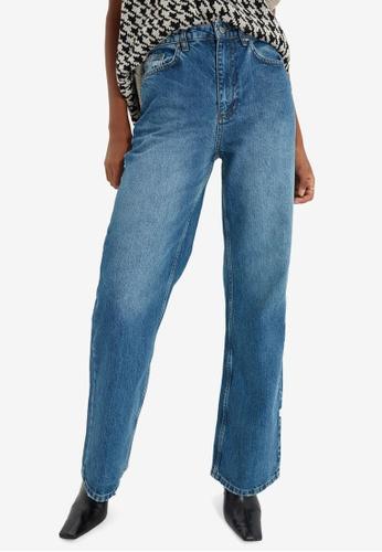 Trendyol blue Wide Leg Jeans 6697EAA146D666GS_1