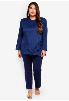 15% OFF Gene Martino Plus Size Straight Cut Pants RM 79.00 NOW RM 67.20  Sizes XXL XXXL XXXXL 858793af9