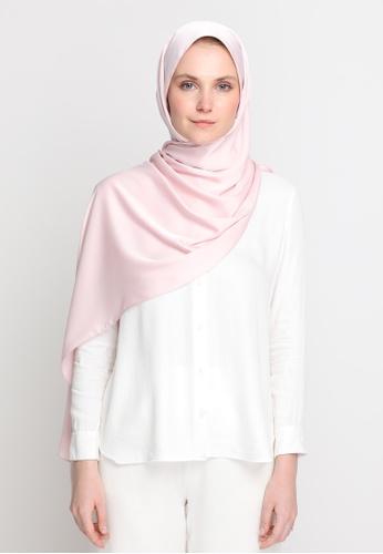 VELRIA pink TIARA Plain Soft Satin Shawl in Rosewater 18B19AA086CCE3GS_1