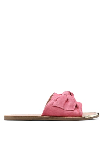 Dorothy Perkins pink Pink Fudge Bow Mule Sandals DO816SH83FJGMY_1