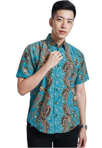 Flike Batik multi Kemeja Batik Tangan Pendek Motif Kipas Sejuk B685AAA9959C87GS_1