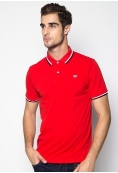 Casual Solid with Double Tipping Polo Shirt