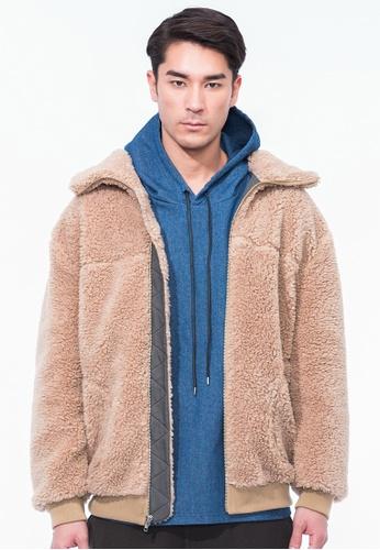 Alpha Style beige Ewan Sherpa Jacket AL461AA0GYH8SG_1