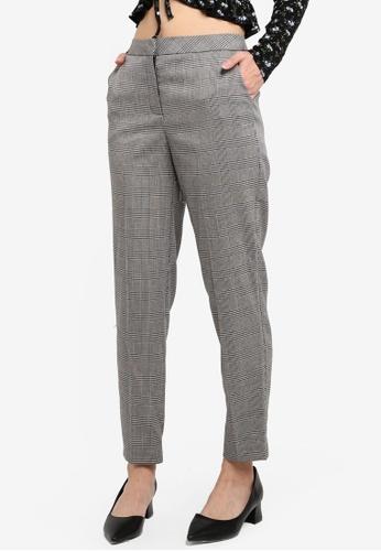 Miss Selfridge multi Check Cigarette Trousers 5A22BAAA7B36D1GS_1