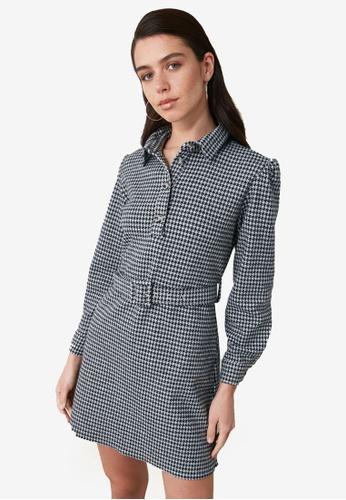 Trendyol black Belted Shirt Dress 153B2AA9ED358EGS_1