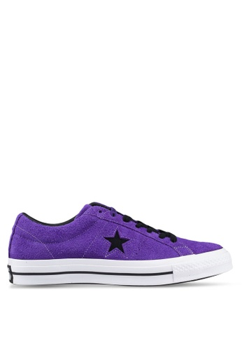 Converse purple One Star Dark Star Vintage Suede Ox Sneakers 49452SH013114AGS_1