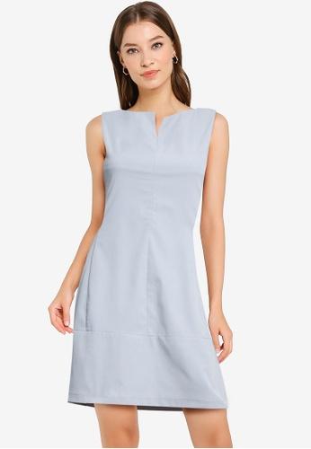 ZALORA WORK blue Cut In Mini Dress D8A06AADDF77C7GS_1