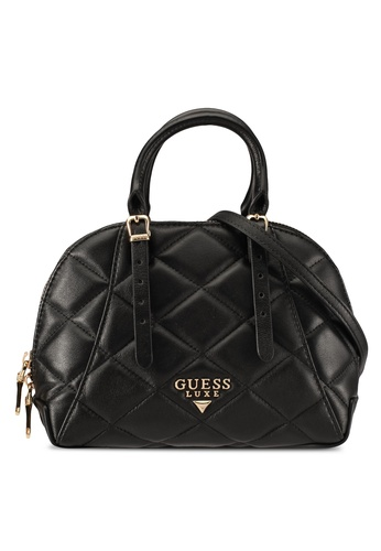 Guess black Lady Luxe Top Handle Bag GU020AC0S7LNMY_1
