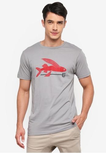 Patagonia grey Flying Fish Organic T-Shirt PA549AA0SVMNMY_1