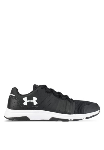 Under Armour black and white UA Raid TR Shoes UN337SH0SU9WMY_1