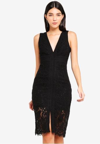 Bardot black Halter Lace Dress 0C61BAAD8B28E9GS_1
