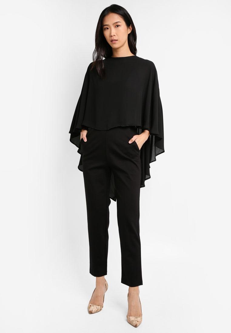 Mango Mango Layer Double Double Mango Jumpsuit Black Jumpsuit Black Jumpsuit Layer Black Double Layer wpgqA6q