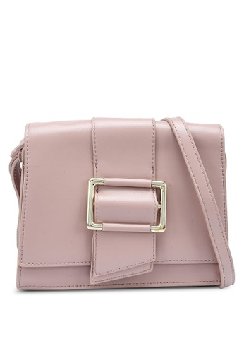 Bagstationz pink Structured Flap Over Sling Bag 0359EAC931E919GS_1