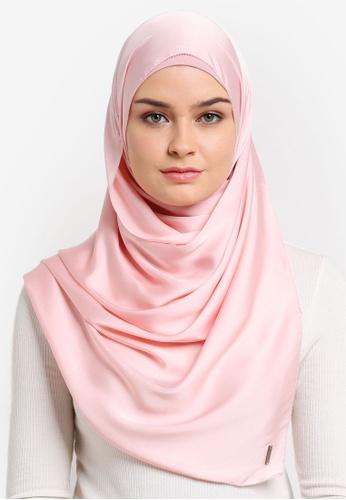 Najjah pink Semi Instant Satin Shawl NA225AA0RBQ5MY_1