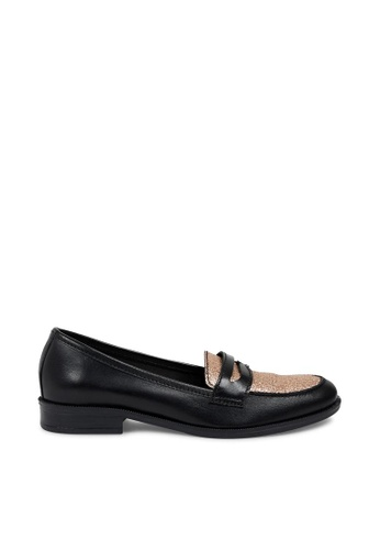 Andre black ADLONG ISLAND Two Tone Leather Loafers AN324SH0FJWJSG_1