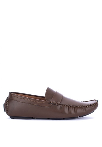 H2Ocean brown Naum Mens Loafers 00254SHAA9DCE5GS_1