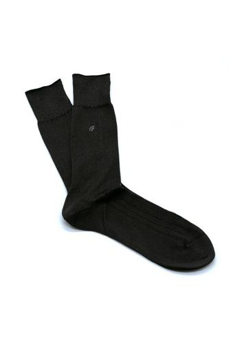 Gay Giano black Gay Giano Black Embroidery Logo Socks 530BFAA2D70E1FGS_1