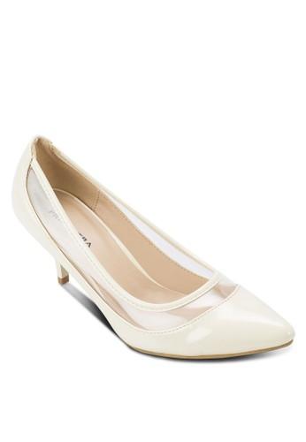 MADELYN 拼接尖頭高esprit暢貨中心跟鞋, 女鞋, 鞋