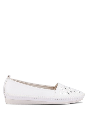 Bata white Slip On Loafers E9DB9SH42843FEGS_1