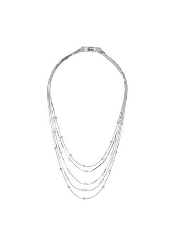 1901 Jewelry Pearl In Silver Necklace