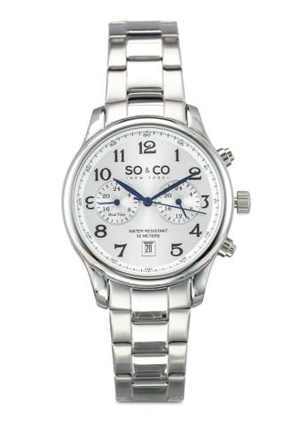 SO&CO silver Monticello Watch 5031 SO540AC0SHLLMY_1