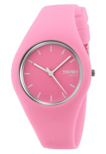 Digitec pink Skmei - Jam Tangan Wanita - Baby Pink- Rubber Strap - 9068-B A61CAACA71CD80GS_1