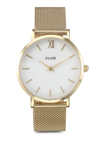 CLUSE gold Minuit Mesh Gold/White CL977AC0SA2TMY_1