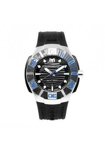 TECHNOMARINE black Technomarine Reef Men 45.5mm Case Black Silicone Strap Black Dial Quartz Watch TM-515011 TE359AC0F5F2SG_1