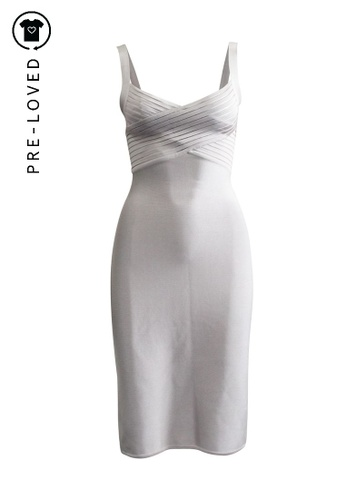 Herve L. Leroux grey Pre-Loved herve l. leroux Bandage Dress. 3A2FFAA08EAACEGS_1