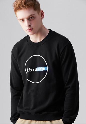 潮流文化。信心之父。刷毛esprit旗艦店印花圓領T-MIT-03711-黑色, 服飾, 長袖T恤
