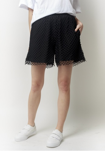 2nd Edition black HAYLEE Eyelet Shorts 2N610AA0GO0ZSG_1