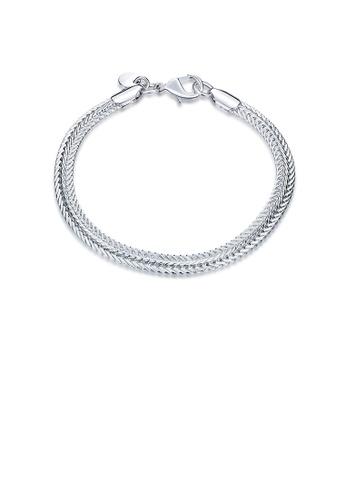 Glamorousky silver Simple Flat Snake Bone Bracelet D79D7AC3742274GS_1