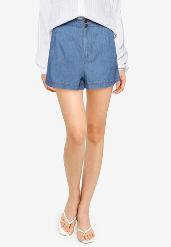 Springfield blue Baggy Denim Shorts E8AD6AA8938CD8GS_1
