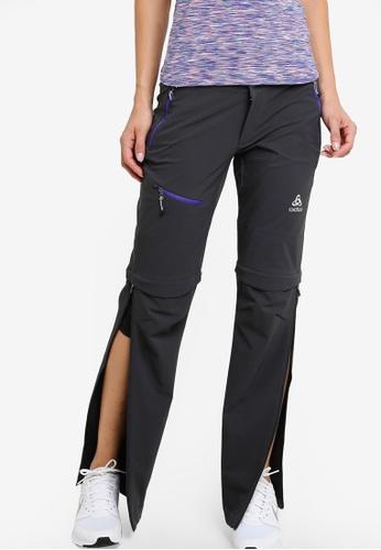 Odlo grey Zip-Off Engage Pants OD608AA27KAQMY_1