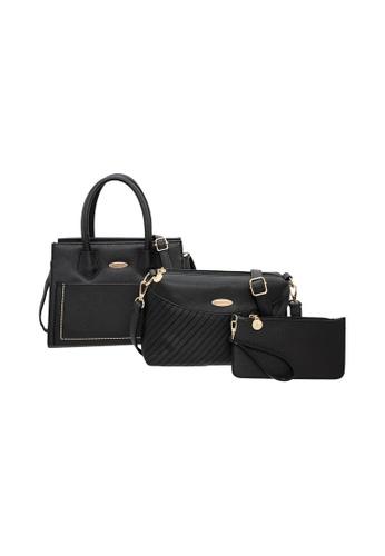 British Polo black British Polo Jennings Handbag, Sling Bag, Purse 3 in 1 Bundle Set 5A4DCAC922D189GS_1